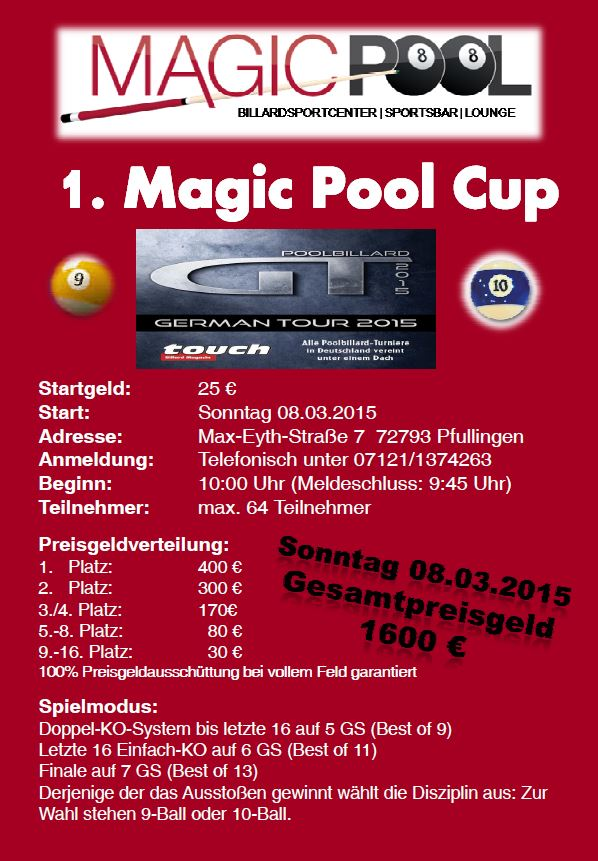 Ausschreibung Magic Pool Cup