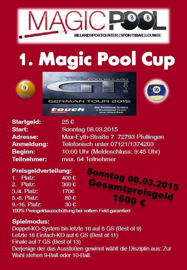 Ausschreibung Magic Pool Cup